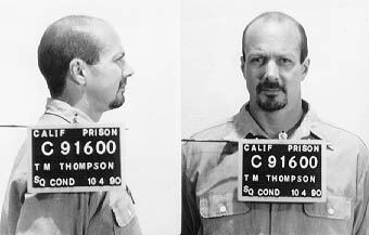 thomas m thompson mugshot front and side in black and white