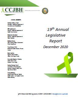Cover of the 19th annual legislative report