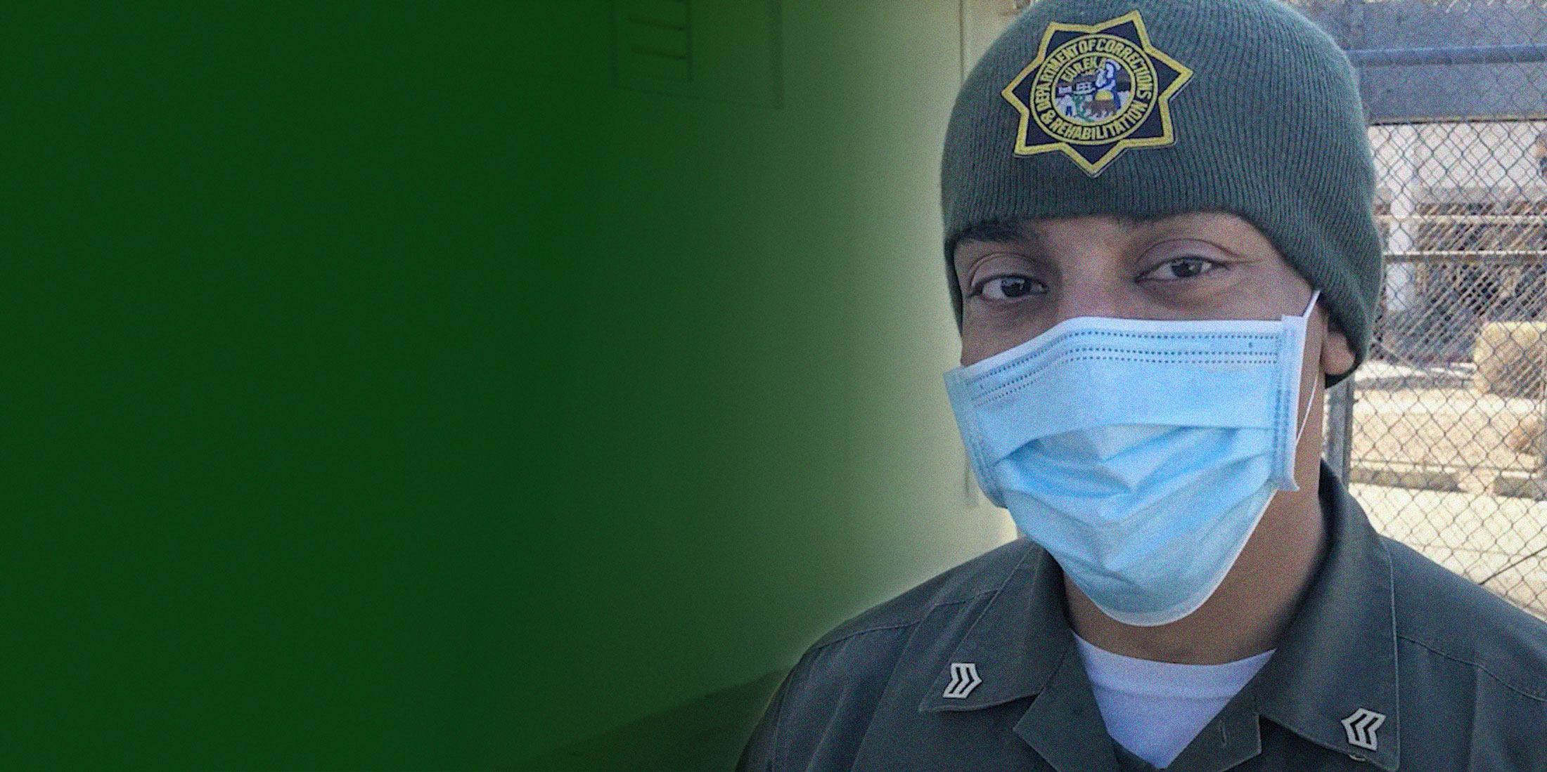 Correctional Officer wearing a mask