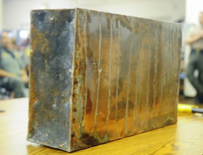 Large metal box.