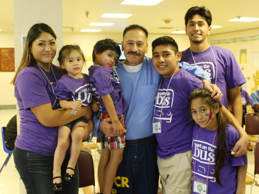 Jose Sandoval spends the day with his family at Folsom State Prison.