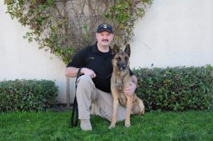 CDCR sergeant Brian Pyle and K-9 Drako