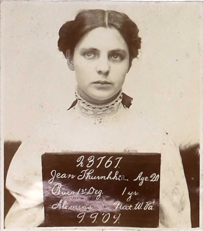 Prison booking photo of Jean Thurnherr with number 23767 written on a board.