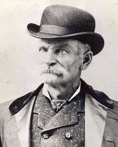 black and white portrait of Charles Black Bart Boles