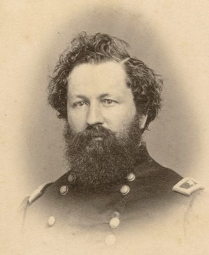 Man in Civil War era military uniform.