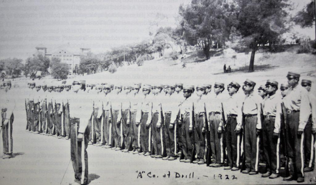 Preston cadets in uniform.