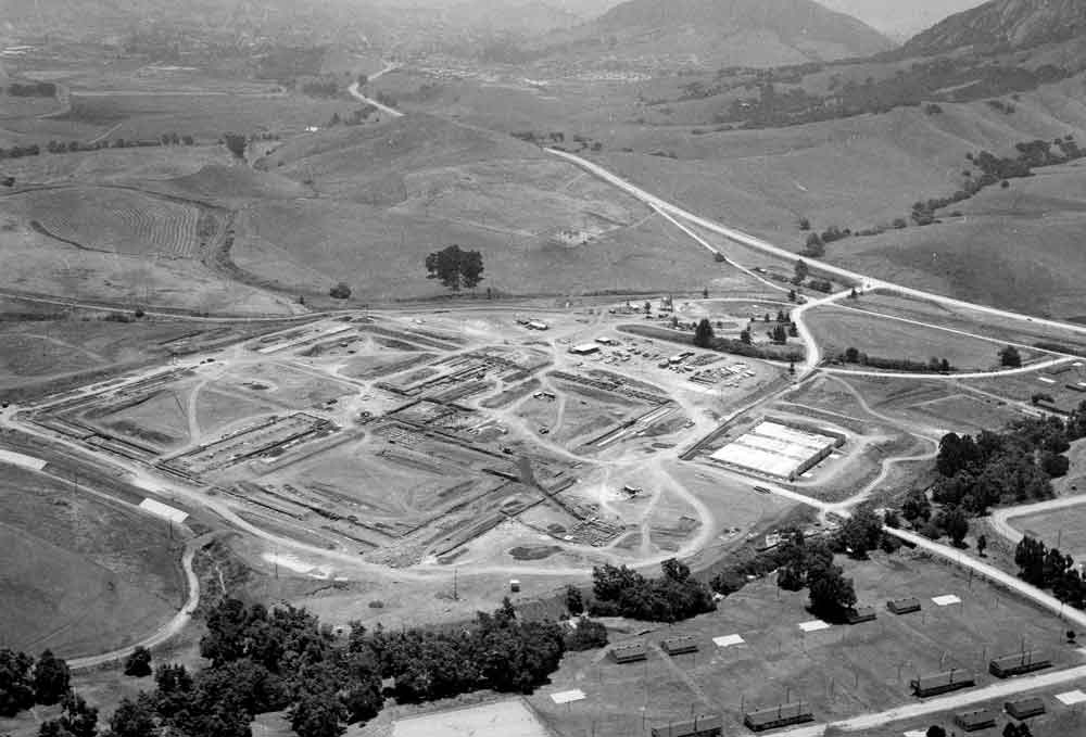 Arial view of California Men's Colony as East Facility was being built.