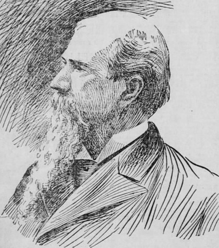 Sketch of man with long beard.