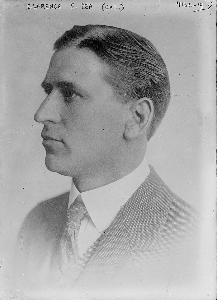 """Man in suit. Writing says """"Clarence F. Lea (Cal.)"""""""