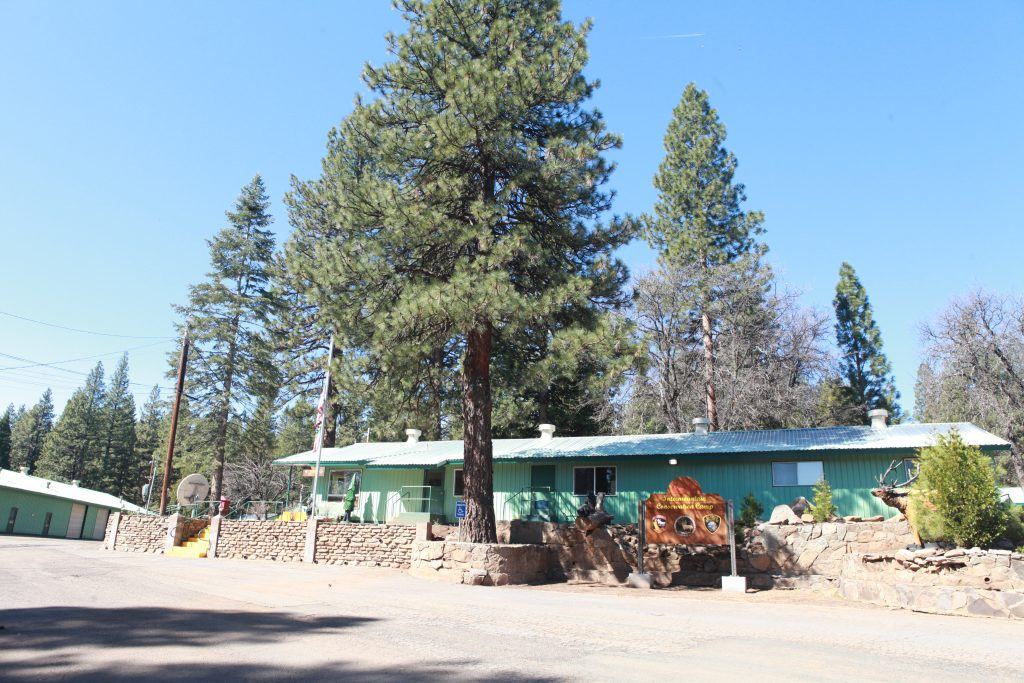 Intermountain Conservation Camp 22 with building surrounded by trees