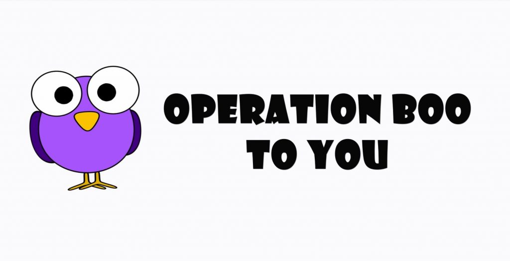 Purple owl and the words Operation Boo To You