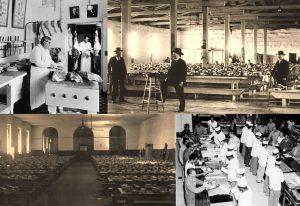 Various photos of three prisons.