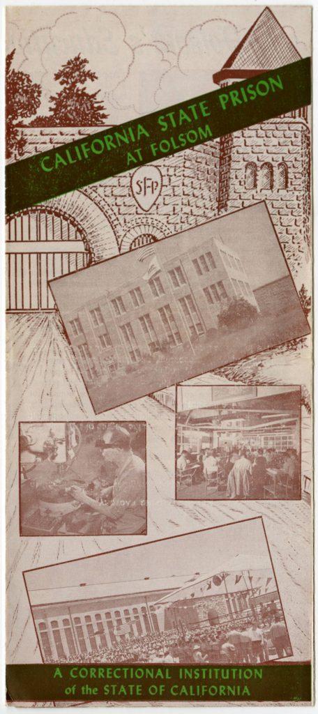 Vintage cover of prison brochure.