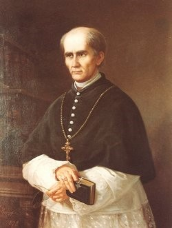 Painting of Catholic Archbishop Alemany.
