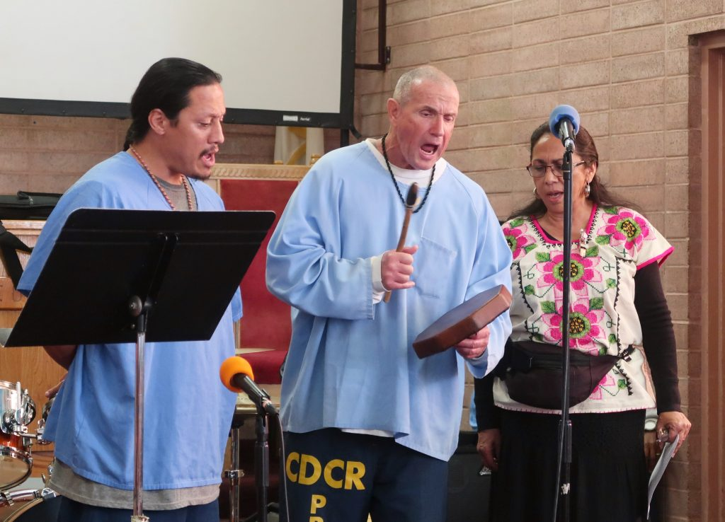 California Medical Facility Native American drumming.