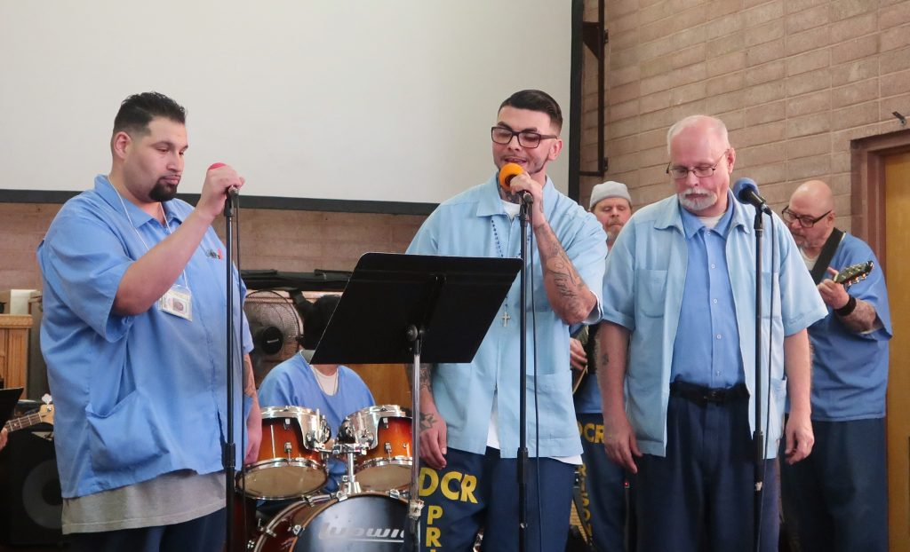 Inmates perform at the Day of Peace and Reconciliation.