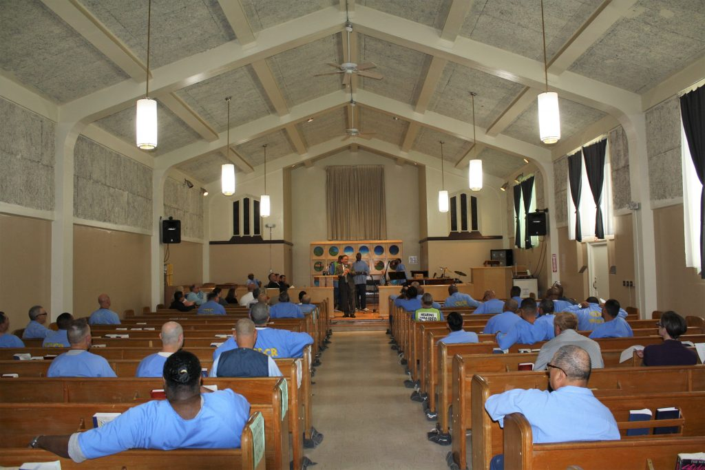 Chapel at Correctional Training Facility in Soledad for the Day of Peace and Reconciliation.