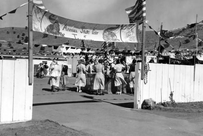 A fair at Tehachapi women's prison in 1938.