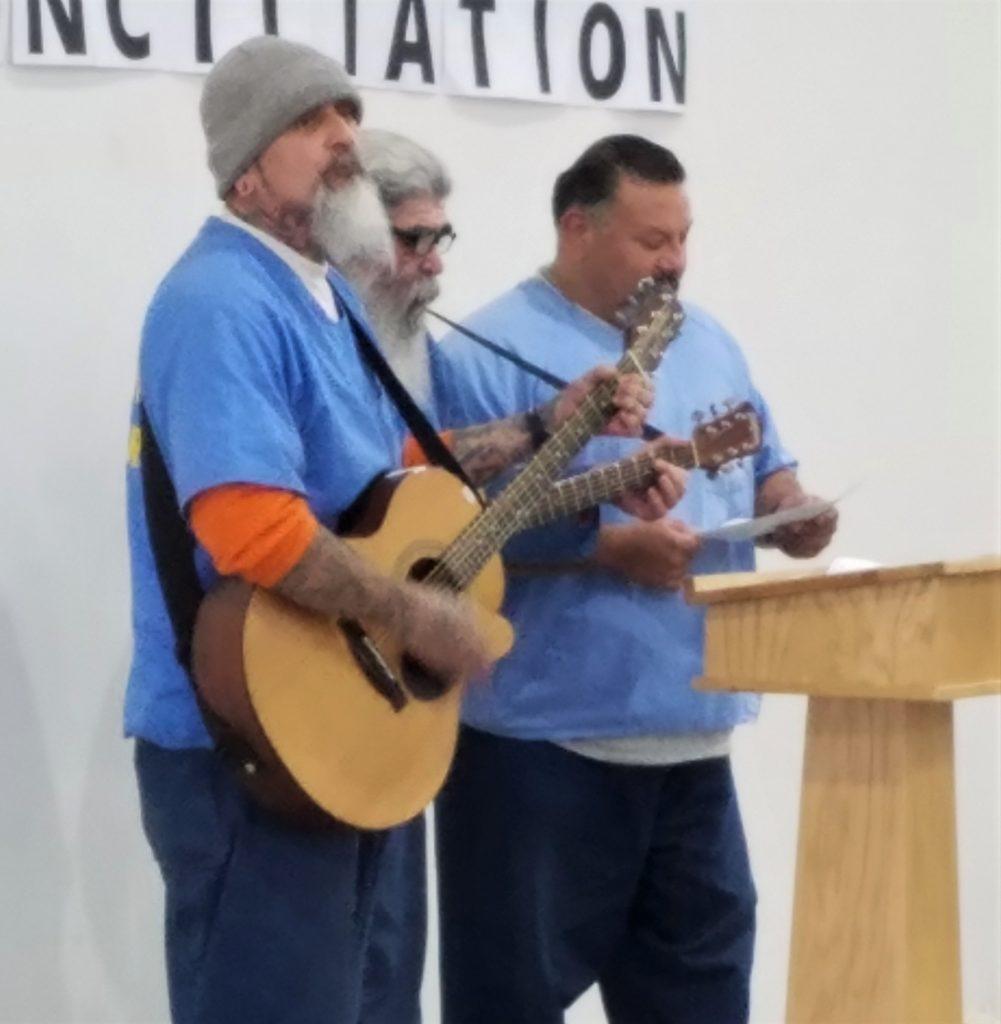 Singing at High Desert State Prison.