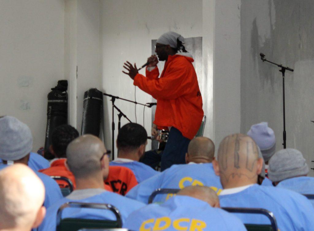 Performing at High Desert State Prison.