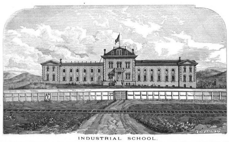 Drawing of San Francisco Industrial School.