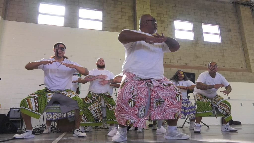 Traditional dancers at Valley State Prison.