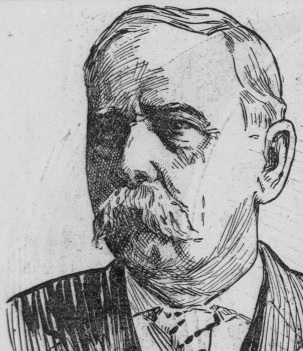 Illustration of San Quentin Captain John C. Edgar published in 1906.