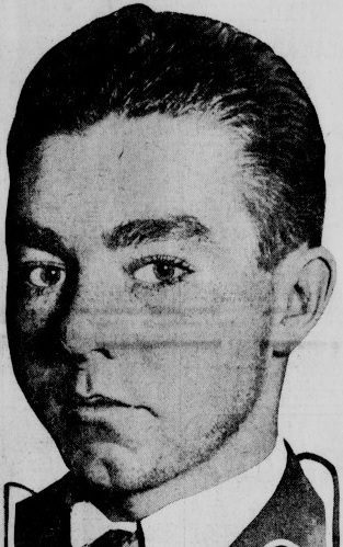 Newpaper photo of a young man in 1915.