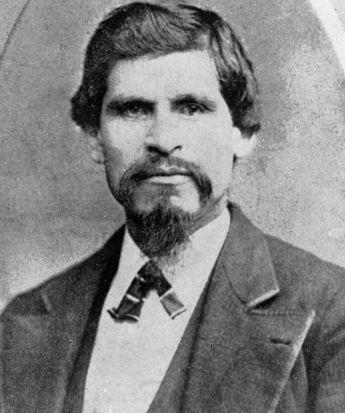 1870s photo of California bandit Tiburcio Vasquez who may have been betrayed by Army camel driver.