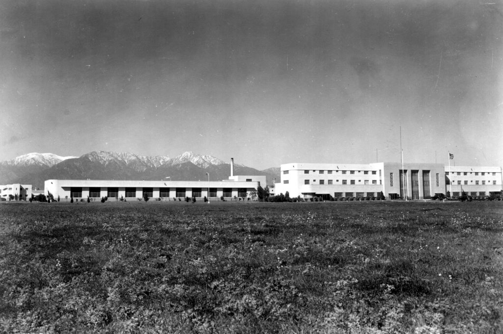 Buildings surrounded by fields is the California Institution for Men. There was no fence or walls.