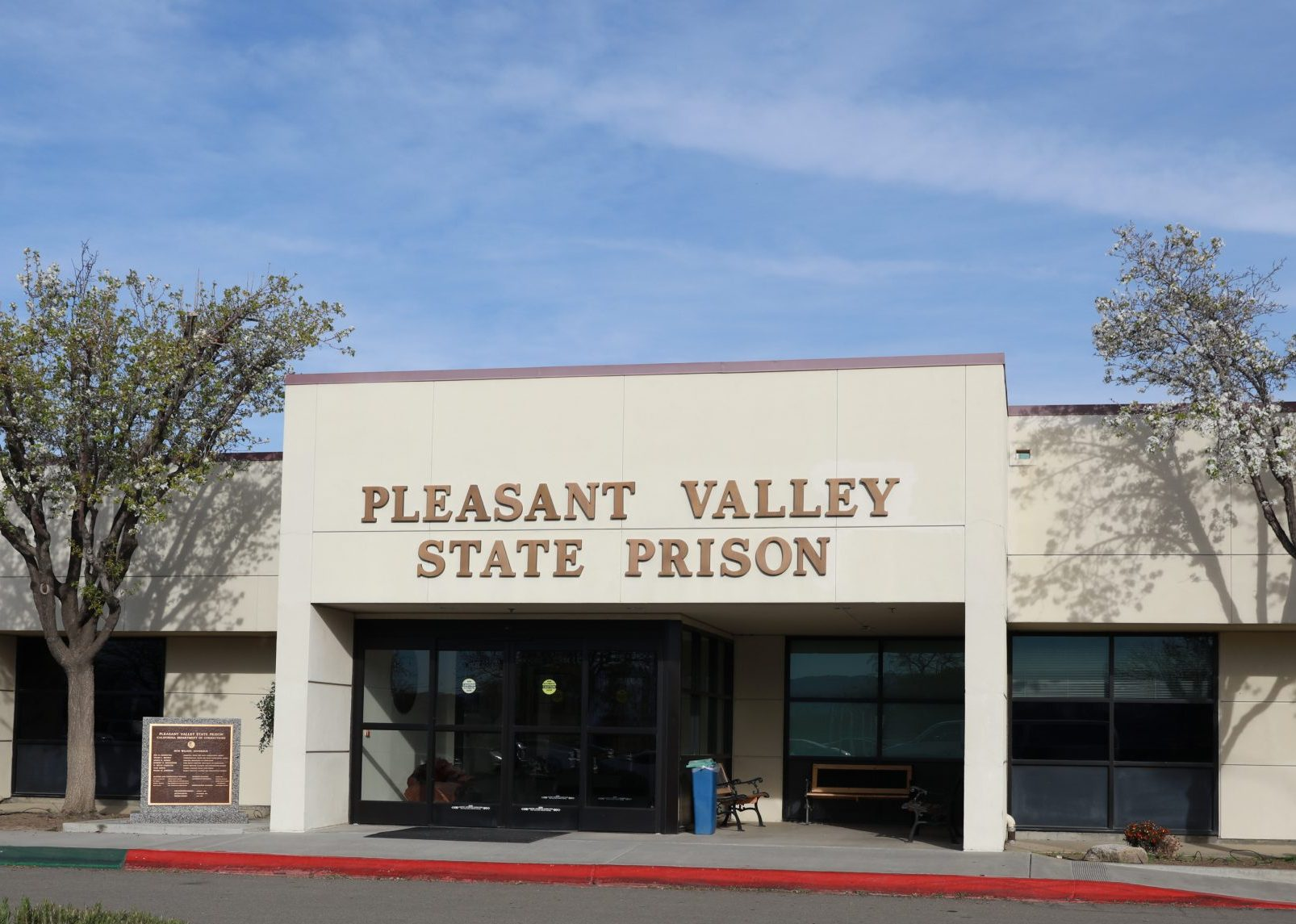 Pleasant Valley State Prison administration building.