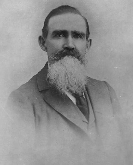 1870s portrait of Andrew Snyder, owner of Sny