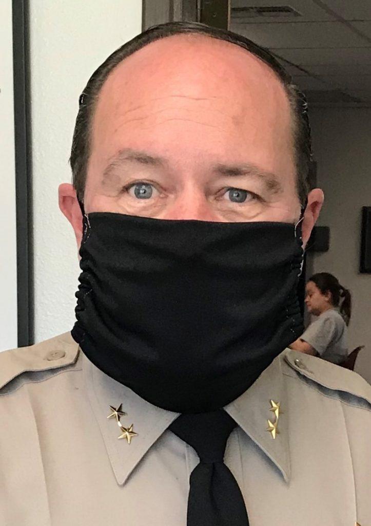 Man wears mask.
