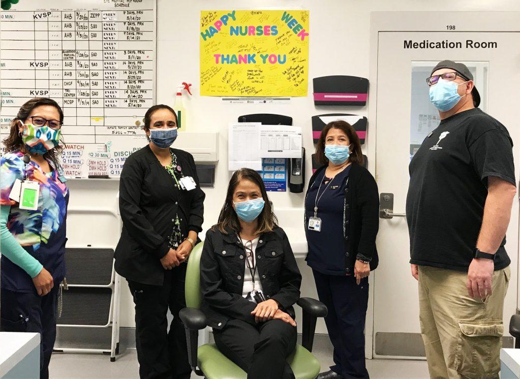 Five correctional nurses pose for a photo.