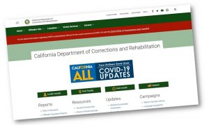 Screenshot of the CDCR homepage.