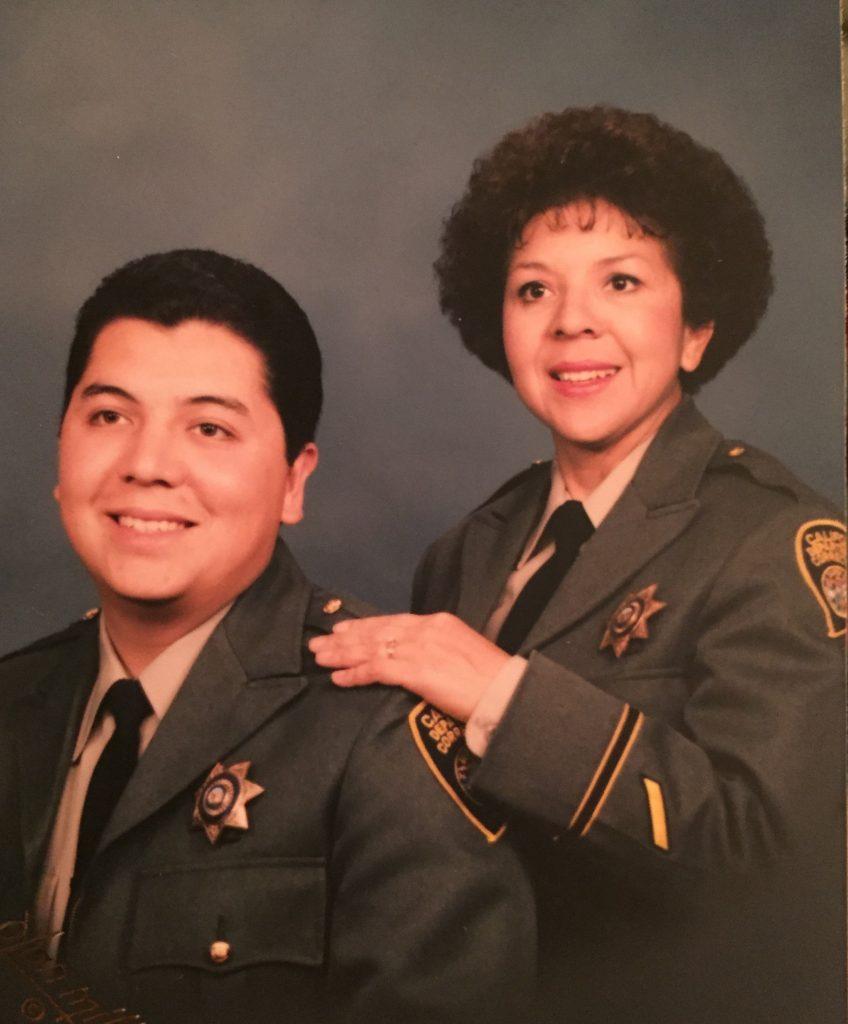 Secretary Diaz with his mother, Diana Moraido Mendoza, a former CDCR recruiter, in 1992.