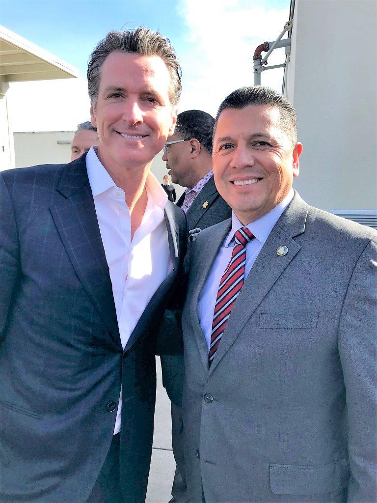 Secretary Diaz with Governor Newsom in 2019.