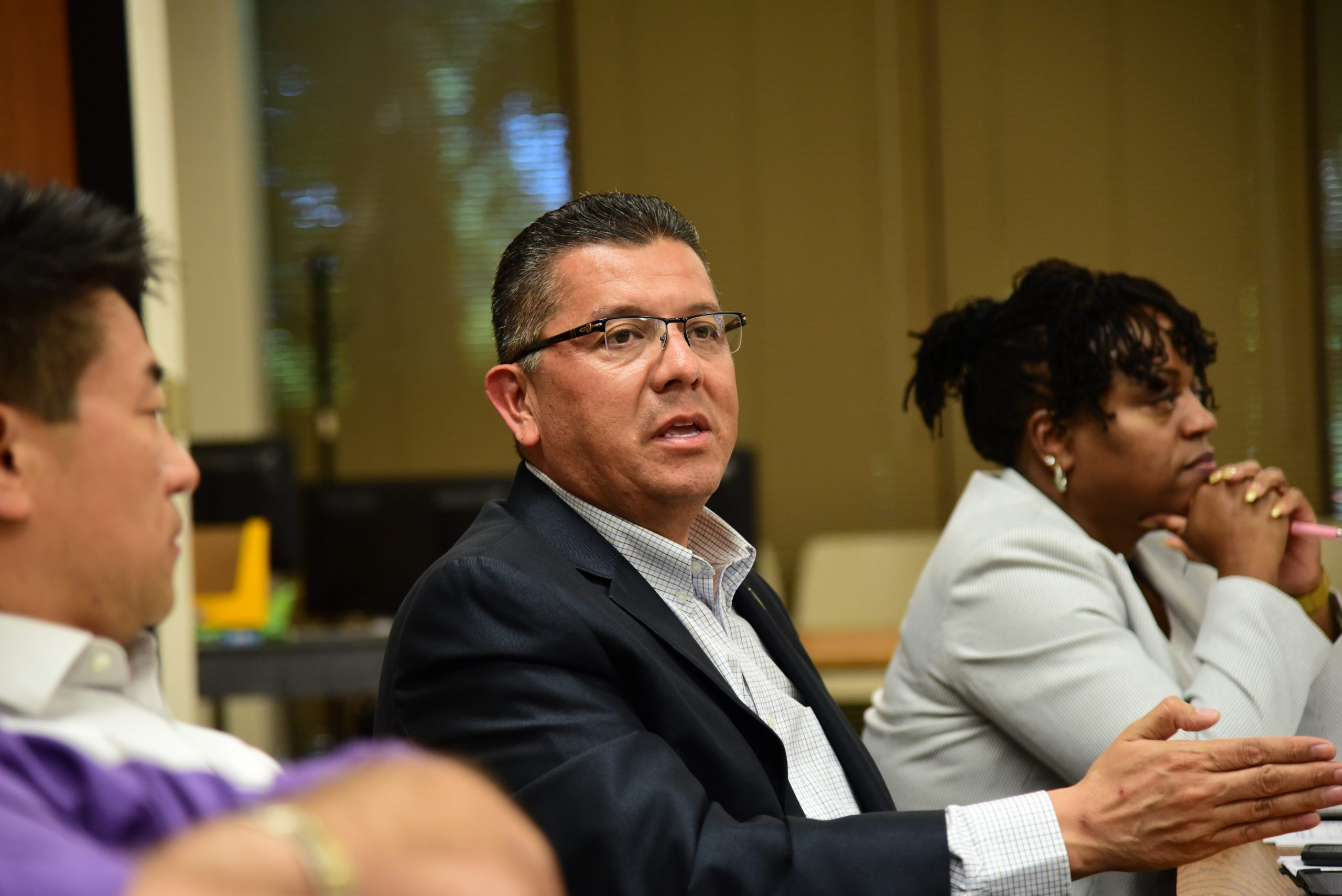 CDCR Secretary Ralph Diaz attends a meeting of the Transgender Housing and Search Workgroup.