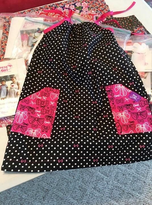 Dress laying on flat surface