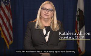CDCR Secretary Kathleen Allison facing the camera