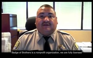 Man in uniform discusses Badge of Brothers for the Our Promise campaign.