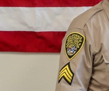 badge on uniform sleeve