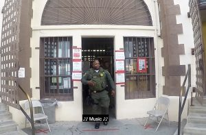 San Quentin Correctional Officer Emmanuall Tyler walks out of the prison.