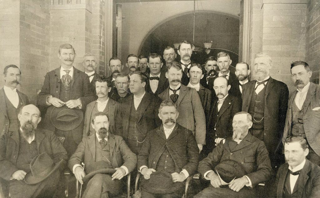 Placer County officials and lawmen pose for a photo in 1895.