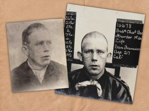 Mugshots of San Quentin inmate Frederick Charles Beck.
