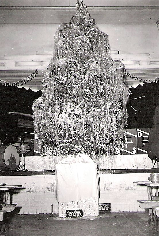 Christmas decorations at San Quentin in 1942.