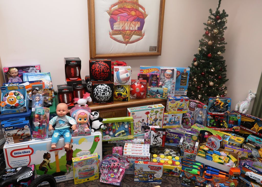 CDCR staff gathered children's toys for the holidays.