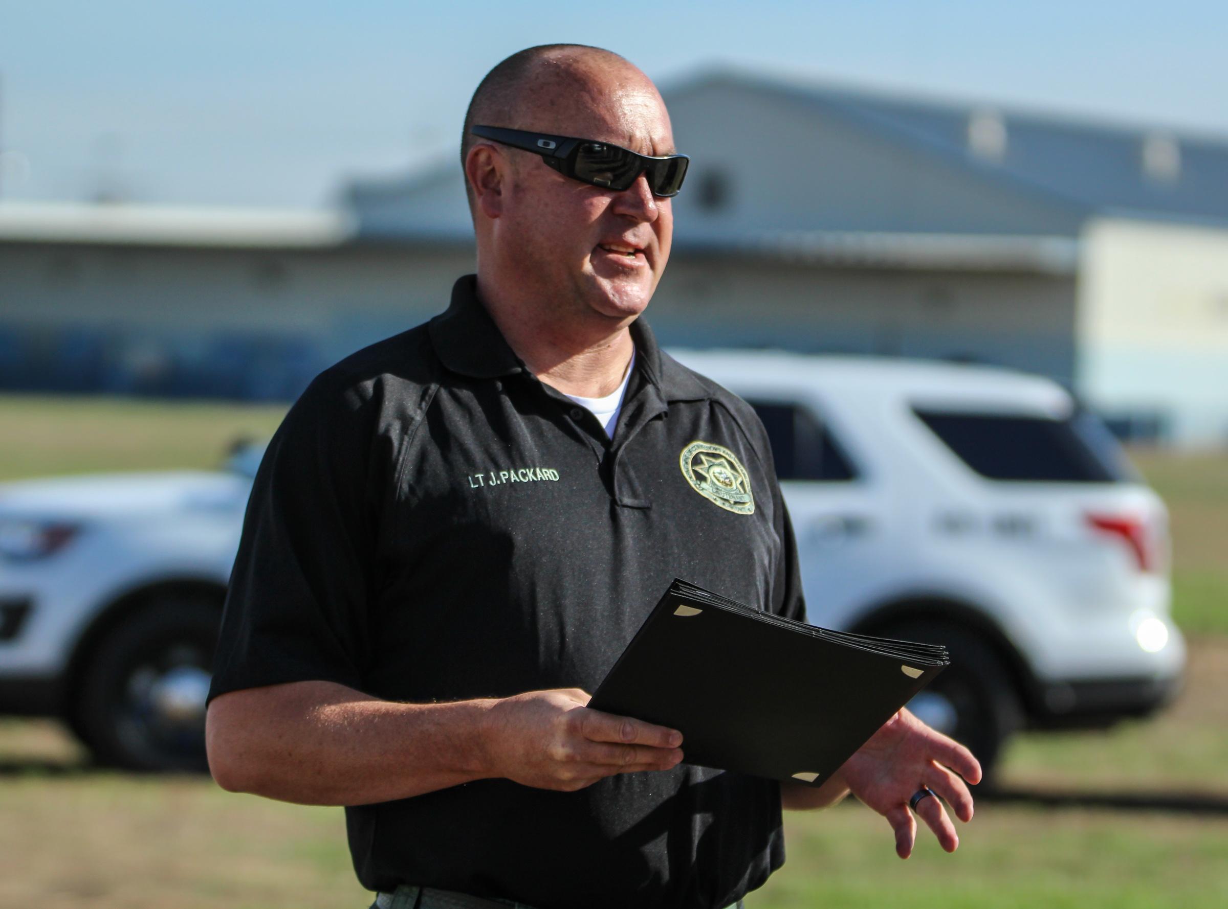K-9 trainer Jeremy Packard.