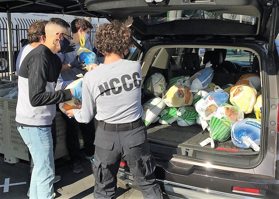 DJJ staff donated a car load of frozen turkeys.