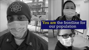 CDCR CCHCS employees wear masks to promote health and saafety.